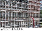 Renovierung, Historisches Museum, Frankfurt, museum, gerüst, baustelle... Стоковое фото, фотограф Zoonar.com/Volker Rauch / easy Fotostock / Фотобанк Лори
