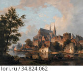 Hove Bart Van - Capriccio Stadsgezicht (Elementen Van Deventer) - ... Редакционное фото, фотограф Artepics / age Fotostock / Фотобанк Лори