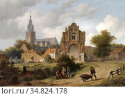 Hove Bart Van - View of Nijmegen with the St Stevenskerk and the ... Редакционное фото, фотограф Artepics / age Fotostock / Фотобанк Лори