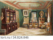 Villeret François Etienne - an Ornate French Living Room - French... Редакционное фото, фотограф Artepics / age Fotostock / Фотобанк Лори