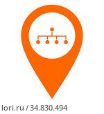 Netzwerk und Kartenmarkierung - Network and location pin. Стоковое фото, фотограф Zoonar.com/Robert Biedermann / easy Fotostock / Фотобанк Лори