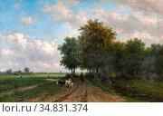 Vester Willem - Boer Met Koeien Op Een Pad Langs Een Rivier - Dutch... Редакционное фото, фотограф Artepics / age Fotostock / Фотобанк Лори