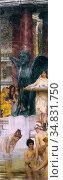 Alma-Tadema Lawrence - a Bath (an Antique Custom) - Dutch School - ... Редакционное фото, фотограф Artepics / age Fotostock / Фотобанк Лори