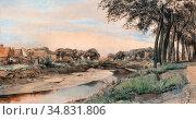 Wolter Hendrik Jan - De Eem - Dutch School - 19th Century. Редакционное фото, фотограф Artepics / age Fotostock / Фотобанк Лори