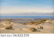 Moore Henry - Crossing the Sand-Hills Cardigan Bay (Harlech Beach... Редакционное фото, фотограф Artepics / age Fotostock / Фотобанк Лори