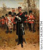 Koekkoek Hermanus Willem - Grenadier Guards - Dutch School - 19th... Редакционное фото, фотограф Artepics / age Fotostock / Фотобанк Лори