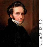 Kruseman Jan Adam - Self Portrait - Dutch School - 19th Century. Редакционное фото, фотограф Artepics / age Fotostock / Фотобанк Лори