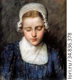 Schwartze Thérèse - Portrait of a Girl - Dutch School - 19th Century. Редакционное фото, фотограф Artepics / age Fotostock / Фотобанк Лори
