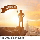 The businessman in winner business concept. Стоковое фото, фотограф Elnur / Фотобанк Лори