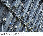 Тыльная часть модульного светодиодного экрана (2019 год). Редакционное фото, фотограф Вячеслав Палес / Фотобанк Лори