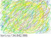 Colorful crayon abstract background. Стоковая иллюстрация, иллюстратор Роман Сигаев / Фотобанк Лори