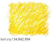 Yellow orange crayon doodle background. Стоковая иллюстрация, иллюстратор Роман Сигаев / Фотобанк Лори