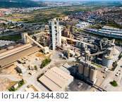 Aerial view of cement plant. Стоковое фото, фотограф Яков Филимонов / Фотобанк Лори
