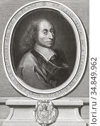 Blaise Pascal, 1623 - 1662. French mathematician, physicist, inventor... Редакционное фото, фотограф Classic Vision / age Fotostock / Фотобанк Лори
