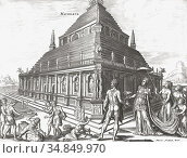 Artist's impression of The Mausoleum at Halicarnassus or Tomb of ... Редакционное фото, фотограф Classic Vision / age Fotostock / Фотобанк Лори