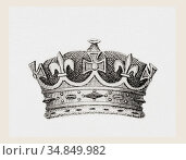 Crown worn by the sons and daughters of the monarch. From The National... Редакционное фото, фотограф Classic Vision / age Fotostock / Фотобанк Лори