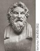 Antisthenes born circa 445 BC died circa 365 BC. Greek philosopher... Редакционное фото, фотограф Classic Vision / age Fotostock / Фотобанк Лори