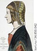 "Beatrice d'Este, also known as Beatrice dâ.Este-Sforza, 1475 â. "" ... Редакционное фото, фотограф Classic Vision / age Fotostock / Фотобанк Лори"
