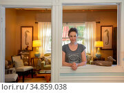 Inn keeper Beth Colt,Woods Hole Inn, Cape Cod, Massachusetts, New... Стоковое фото, фотограф Christian Heeb / age Fotostock / Фотобанк Лори