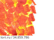 Red yellow paint brush strokes. Стоковая иллюстрация, иллюстратор Роман Сигаев / Фотобанк Лори