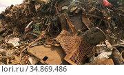 Rusty metal pieces in scrapyard 4k. Стоковое видео, агентство Wavebreak Media / Фотобанк Лори