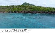 Scenery of the mountains in the sea 4k. Стоковое видео, агентство Wavebreak Media / Фотобанк Лори
