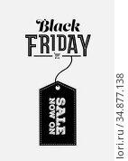 Black friday vector with tag. Стоковое фото, агентство Wavebreak Media / Фотобанк Лори