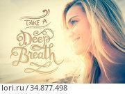 Take a deep breath vector. Стоковое фото, агентство Wavebreak Media / Фотобанк Лори