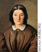 Boch Anton - Portrait Einer Dame IM Braunen Kleid - Austrian School... Редакционное фото, фотограф Artepics / age Fotostock / Фотобанк Лори