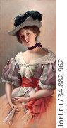 Czachorski Wladislaw Von - Jeune Belle - Austrian School - 19th Century... Редакционное фото, фотограф Artepics / age Fotostock / Фотобанк Лори