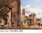 Alt Rudolf Von - Blick Aus Der Maxentiusbasilika in Rom Auf Santa... Редакционное фото, фотограф Artepics / age Fotostock / Фотобанк Лори