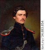 Eybl Franz - Portrait of a Young Gentleman in Uniform - Austrian ... Редакционное фото, фотограф Artepics / age Fotostock / Фотобанк Лори