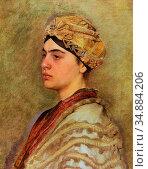 Kaufmann Isidor - a Jewish Bride - Austrian School - 19th Century. Редакционное фото, фотограф Artepics / age Fotostock / Фотобанк Лори