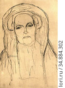 Klimt Gustave - Brustbild Einer Alten Frau - Austrian School - 19th... Редакционное фото, фотограф Artepics / age Fotostock / Фотобанк Лори