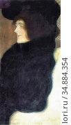 Klimt Gustave - Pale Face - Austrian School - 19th Century. Редакционное фото, фотограф Artepics / age Fotostock / Фотобанк Лори