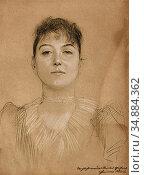 Klimt Gustave - Portrait Einer Frau - Austrian School - 19th Century. Редакционное фото, фотограф Artepics / age Fotostock / Фотобанк Лори