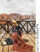 Ruben Franz Leo - a Distraction on the Accademia Bridge Venice (Der... Редакционное фото, фотограф Artepics / age Fotostock / Фотобанк Лори