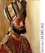 Swoboda II Rudolf - Jemadar Abdul Karim Khan Viceroy's Bodyguard - ... Редакционное фото, фотограф Artepics / age Fotostock / Фотобанк Лори