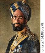 Swoboda II Rudolf - Risaldar-Major Ali Muhammad Khan 2nd Bengal Lancers... Редакционное фото, фотограф Artepics / age Fotostock / Фотобанк Лори