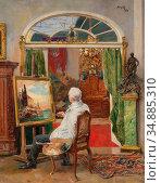 Temple Hans - Maler IM Atelier - Austrian School - 19th Century. (2020 год). Редакционное фото, фотограф Artepics / age Fotostock / Фотобанк Лори