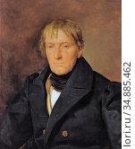 Waldmuller Ferdinand Georg - Der Kupferstecher Francois Haury - Austrian... Редакционное фото, фотограф Artepics / age Fotostock / Фотобанк Лори