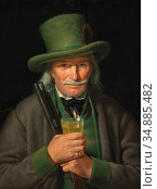 Weidner Joseph - Ein Alter Gemsenjäger Mit Einem Glas Steiermärker... Редакционное фото, фотограф Artepics / age Fotostock / Фотобанк Лори