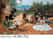 Buchser Frank - the Song of Mary Blane - Swiss School - 19th Century. Редакционное фото, фотограф Artepics / age Fotostock / Фотобанк Лори