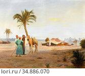 Pilny Otto - Oasis in the Desert - Swiss School - 19th Century. Редакционное фото, фотограф Artepics / age Fotostock / Фотобанк Лори