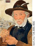 Bieler Ernest - Le Marguillier (L 'homme a La Tabatière) - Swiss ... Редакционное фото, фотограф Artepics / age Fotostock / Фотобанк Лори