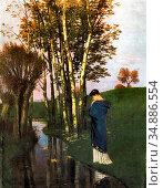 Bocklin Arnold - Pensées D'automne - Swiss School - 19th Century. Редакционное фото, фотограф Artepics / age Fotostock / Фотобанк Лори