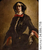 Buchser Frank - Bildnis Mrs S - Swiss School - 19th Century. Редакционное фото, фотограф Artepics / age Fotostock / Фотобанк Лори