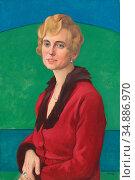 Roederstein Ottilie - Portrait of Irene Holz - Swiss School - 19th... Редакционное фото, фотограф Artepics / age Fotostock / Фотобанк Лори