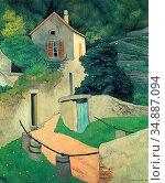 Vallotton Felix - a Vallon Landscape - Swiss School - 19th Century. Редакционное фото, фотограф Artepics / age Fotostock / Фотобанк Лори