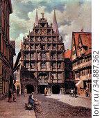Bourdet Carl Josef Alois - Braunschweig Gewandhaus Von Osten - Czech... Редакционное фото, фотограф Artepics / age Fotostock / Фотобанк Лори